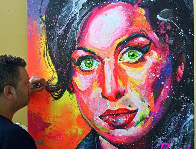 Retrato fluor Amy Winehouse by Bernal