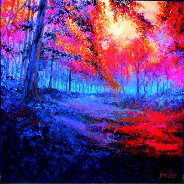Paisaje fluorescente pintado por Javier Bernal