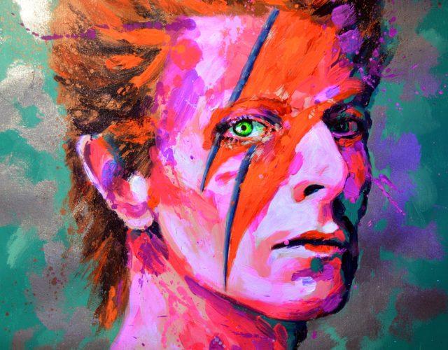 Arte contemporaneo fluor David Bowie por Bernal