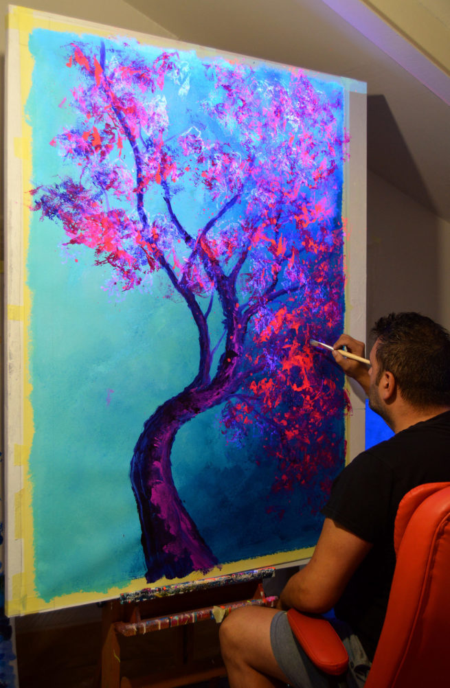Javier Bernal fluor art japanese cherry