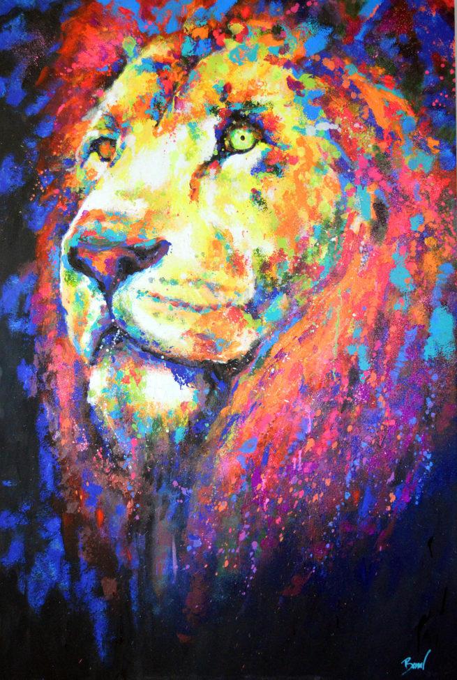 Javier Bernal art Lion