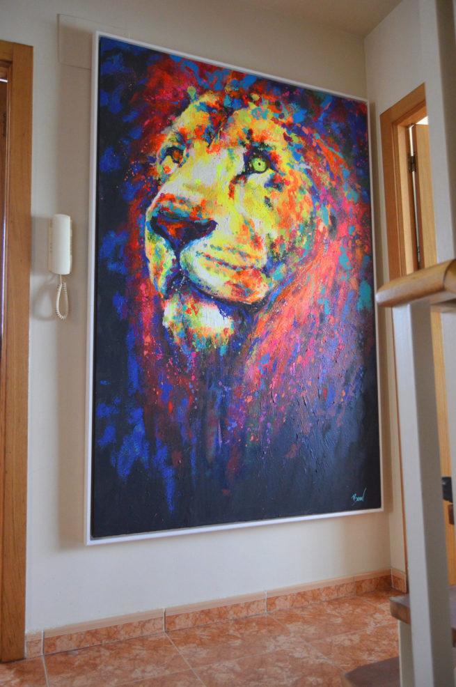 Javier Bernal art cuadro de Leon
