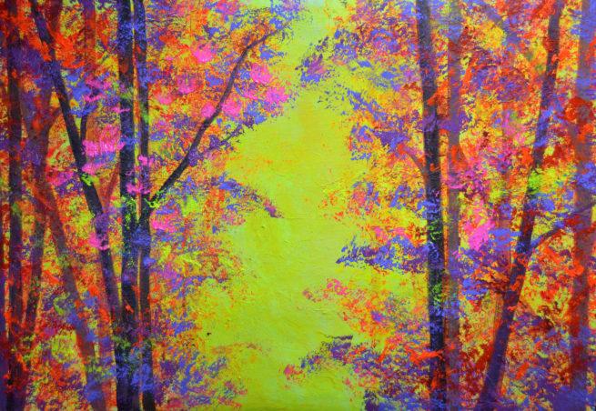 Bernal art paisaje fluor otoño