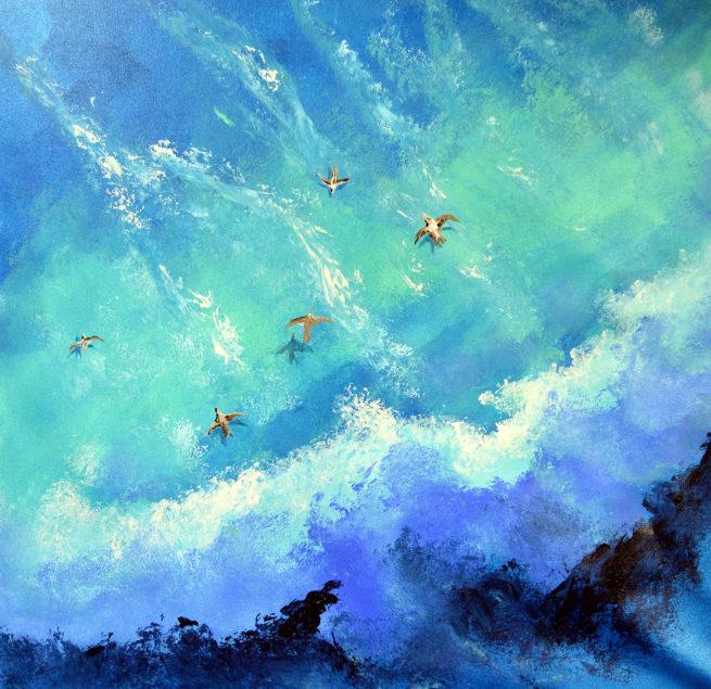 Mar cuadro pintado por Javier Bernal