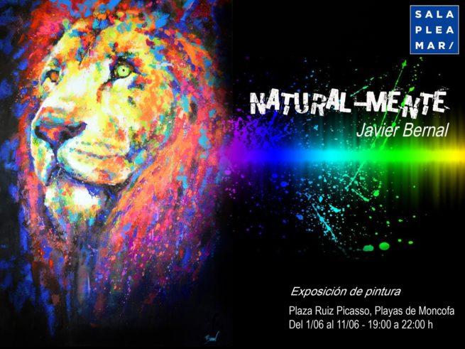 Exposición de arte flúor de Javier Bernal en Valencia